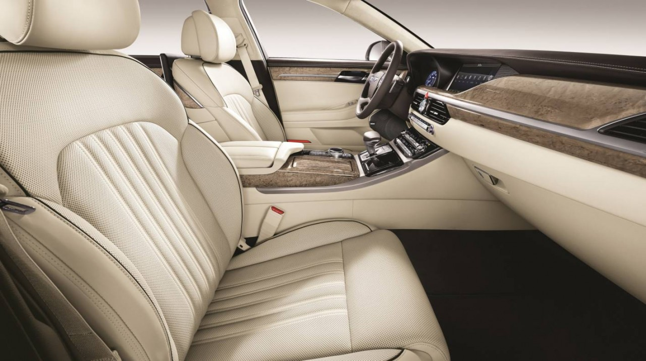 2016 genesis g90 revealed hyundai 39 s new luxury flagship. Black Bedroom Furniture Sets. Home Design Ideas