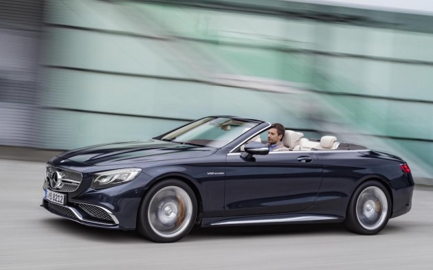 2016 Mercedes-AMG S 65 Cabrio-roof down