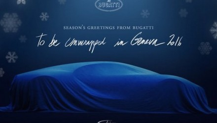 Bugatti Chiron teaser/Xmas card released, more prototypes spotted (video)