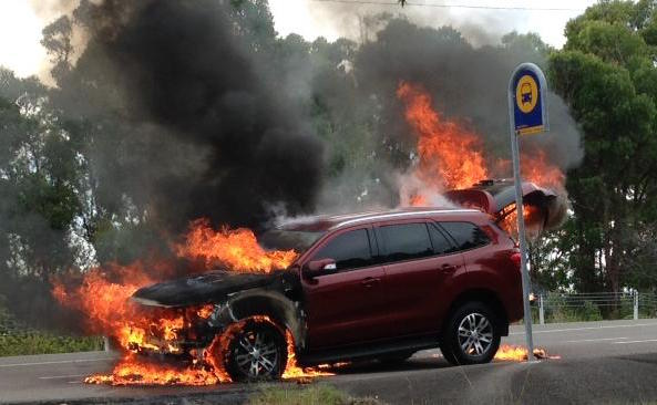 Ford Everest fire
