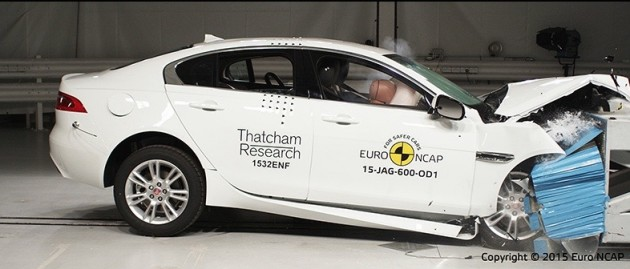 Jaguar XE NCAP crash test