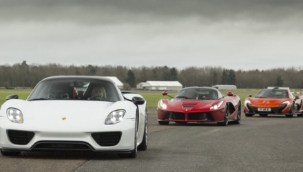 McLaren P1, LaFerrari, Porsche 918 drive up for grabs, hit 200mph