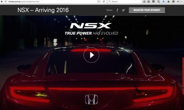 2016 Honda NSX Australia