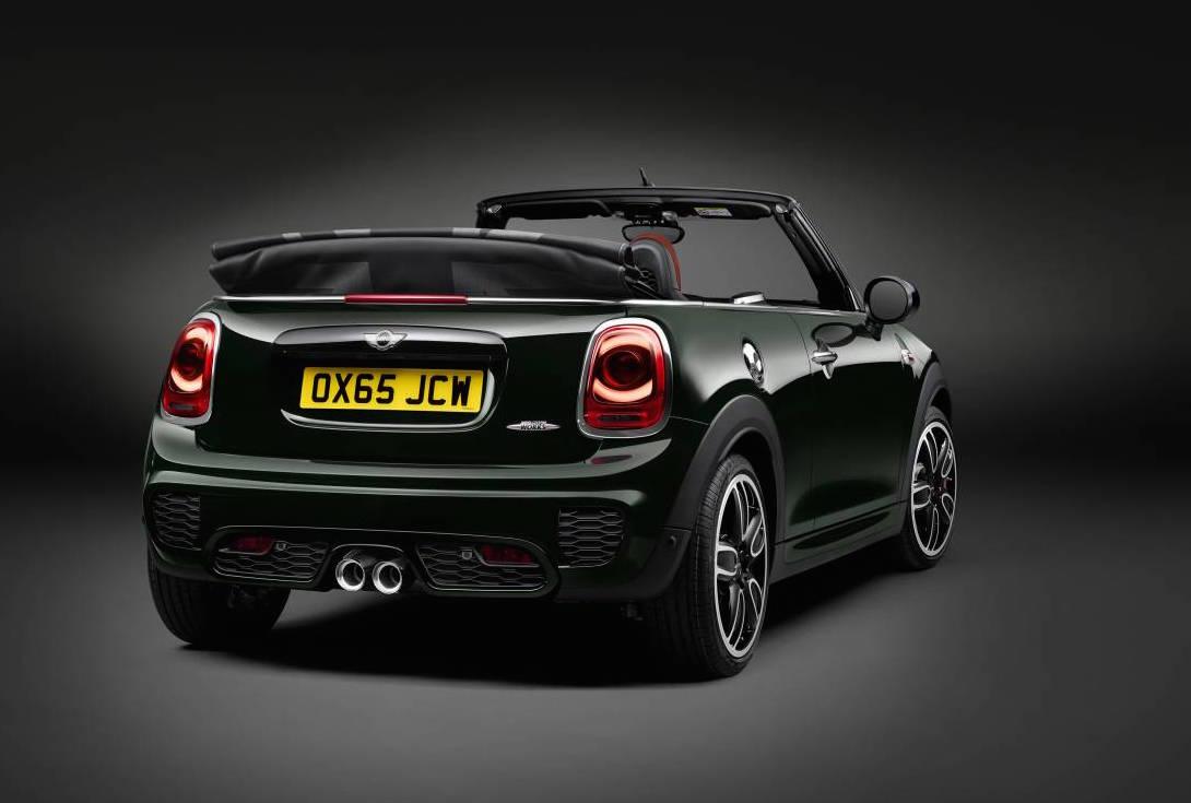 2016 mini john cooper works convertible revealed performancedrive. Black Bedroom Furniture Sets. Home Design Ideas