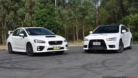 2016 Mitsubishi Lancer Evolution vs Subaru WRX STI: comparison (video)