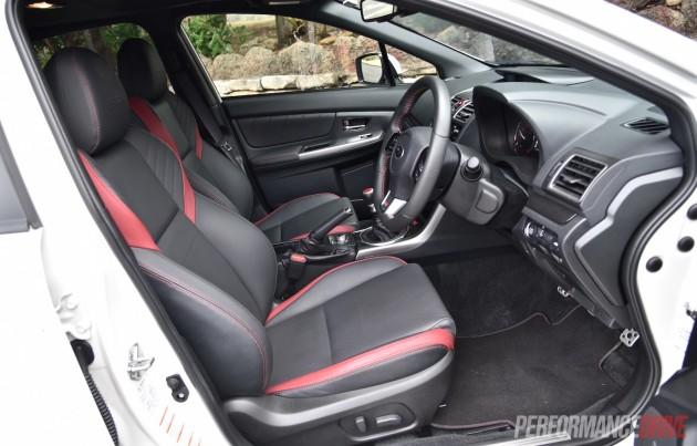 2016 Subaru WRX STI-seats