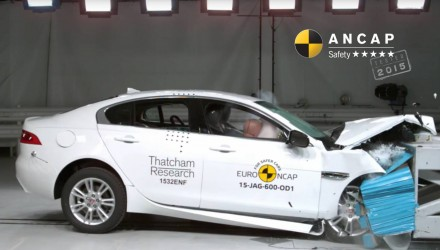 Jaguar XE awarded five-star ANCAP safety rating