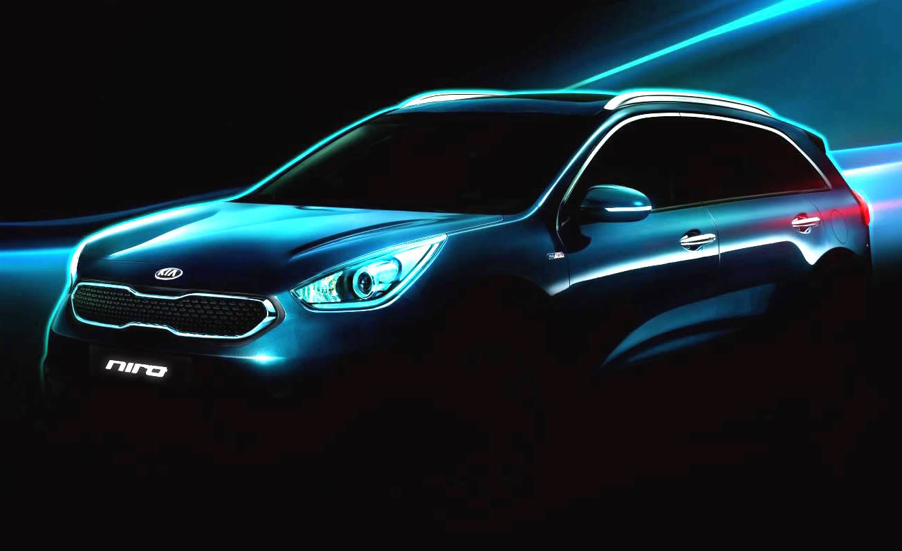 kia niro huv concept previewed new hybrid compact suv performancedrive. Black Bedroom Furniture Sets. Home Design Ideas