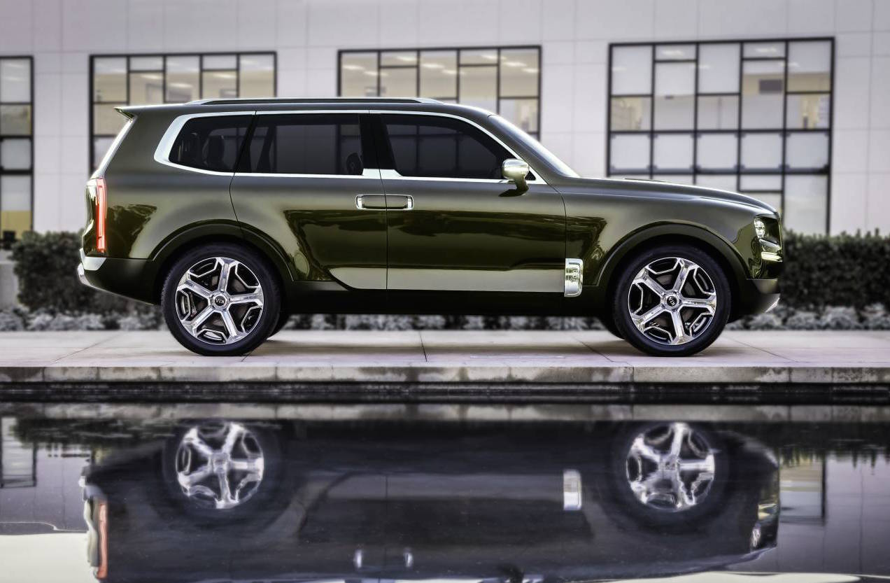 kia telluride concept revealed possible large suv above sorento performancedrive. Black Bedroom Furniture Sets. Home Design Ideas