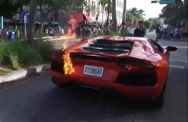Lamborghini Aventador fire valet