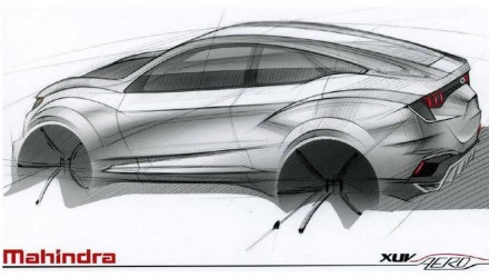 Mahindra XUV Aero concept previews striking coupe SUV