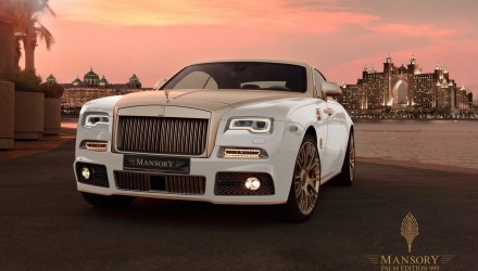 Mansory Palm Edition 999 Rolls-Royce Wraith adds gold & power