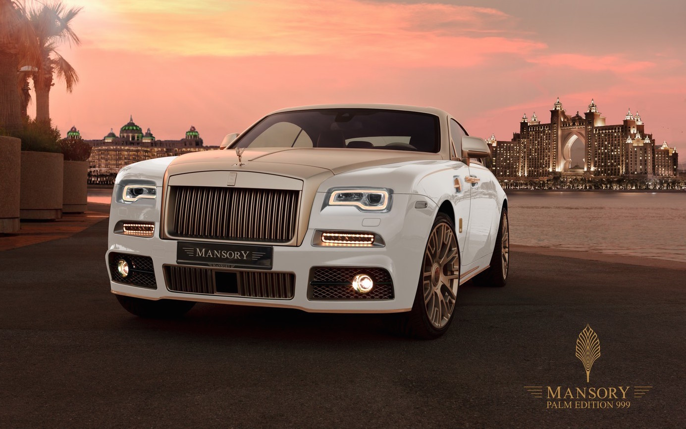 mansory palm edition 999 rolls royce wraith adds gold. Black Bedroom Furniture Sets. Home Design Ideas