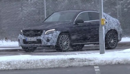 Video: Mercedes-Benz GLC Coupe spotted, ready to rival BMW X4