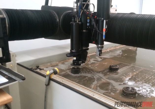 Volvo 240 GL LS1 mounts-waterjet cutting