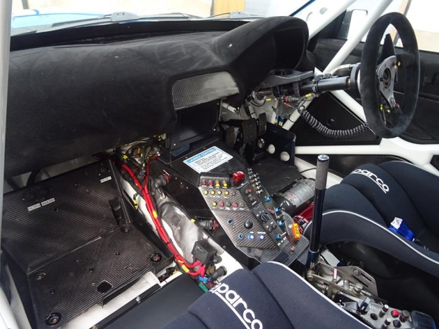2007 Subaru WRC S12B rally car-interior