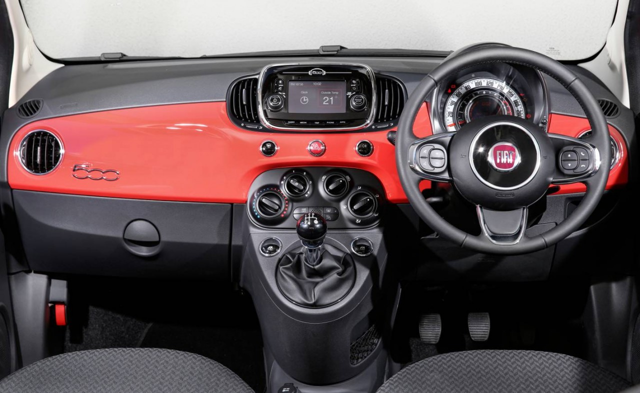2016 fiat 500 now on sale in australia in from 18 000. Black Bedroom Furniture Sets. Home Design Ideas