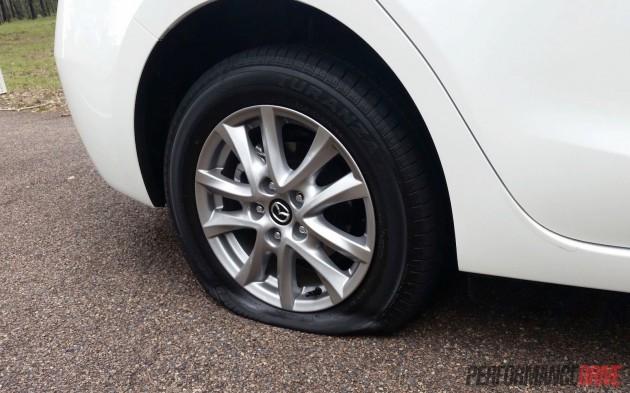 2016 Mazda3 Touring-flat tyre