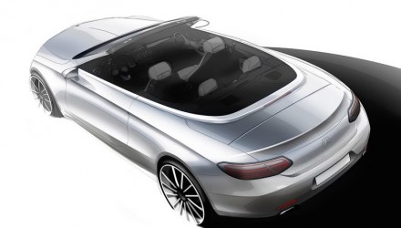 2016 Mercedes-Benz C-Class Cabriolet previewed before Geneva debut