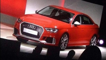 Audi RS 3 sedan revealed, images surface on social media