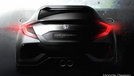 2017 Honda Civic hatch previewed; 1.5 turbo likely, destined for Australia