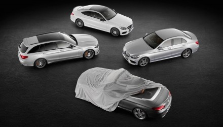 2016 Mercedes C-Class cabrio previewed again, AMG C 43 Coupe shown
