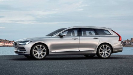 2017 Volvo V90 officially revealed, gets 300kW T8 hybrid flagship