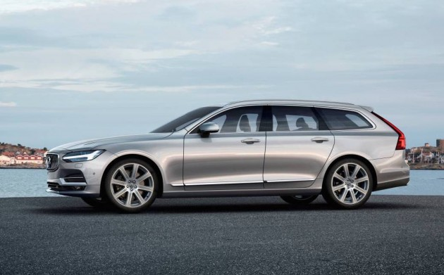 2017 volvo v90 officially revealed gets 300kw t8 hybrid. Black Bedroom Furniture Sets. Home Design Ideas