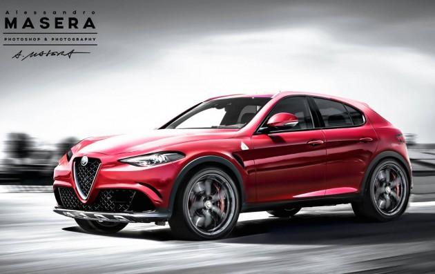 Alfa Romeo Stelvio SUV rendering