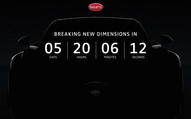 Bugatti Chiron countdown