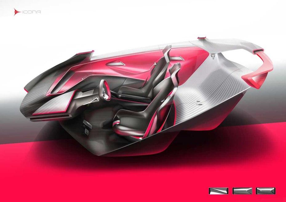 icona neo concept previews futuristic ev city car performancedrive. Black Bedroom Furniture Sets. Home Design Ideas