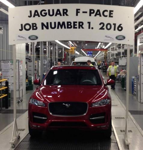 Jaguar F-Pace production begins