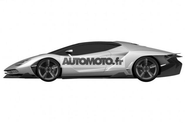 Lamborghini Centenario LP770-4-patent