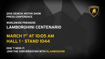 Lamborghini Centenario will debut at Geneva, name confirmed