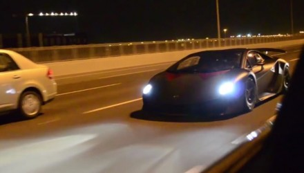 Video: Lamborghini Sesto Elemento screams on the street