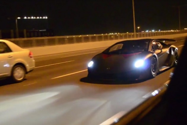 Lamborghini Sesto Elemento street
