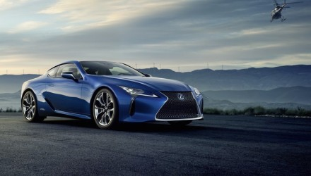 Lexus LC 500h hybrid variant revealed, full debut at Geneva