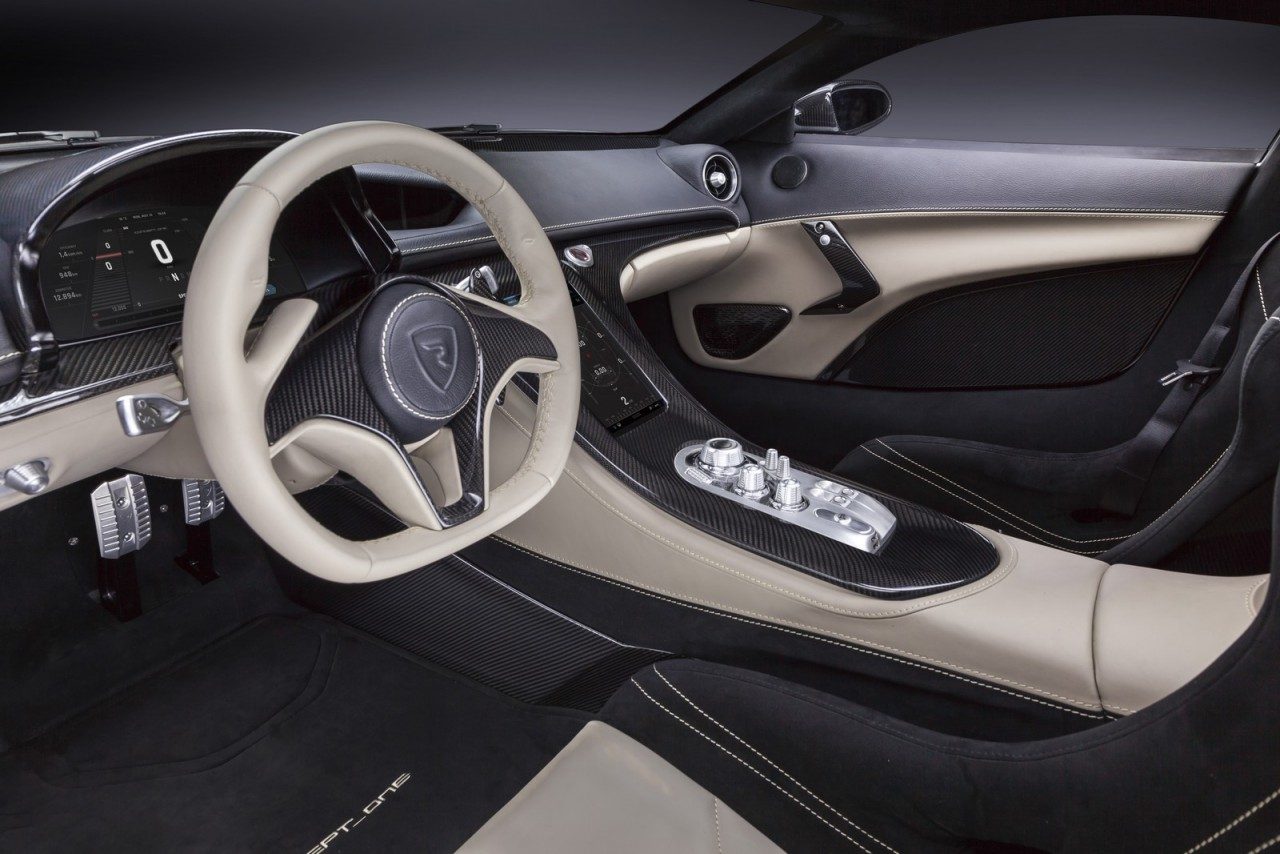 800kw rimac concept one revealed will go into production for Interieur concepts