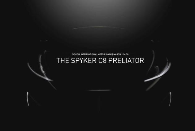 Spyker C8 Preliator-teaser