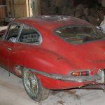 Original 1963 Jaguar E-Type found under a hedge, sold at auction
