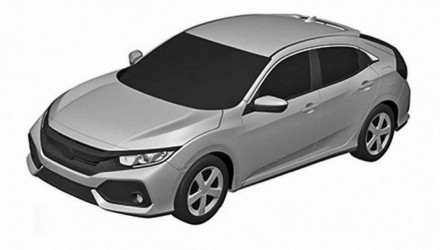 2017 Honda Civic Hatch patent images show sporty design