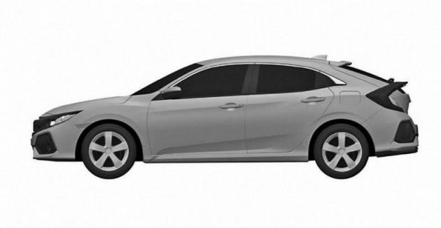 2017 Honda Civic Hatch patent-side