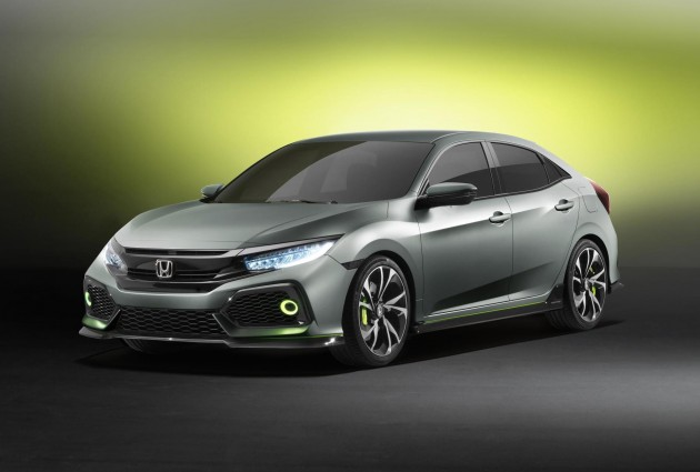 2017 Honda Civic hatch prototype