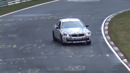 2018 BMW M5 'F90' spotted on slippery Nurburgring for first time (video)