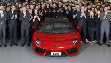 Lamborghini Aventador hits 5000 production milestone