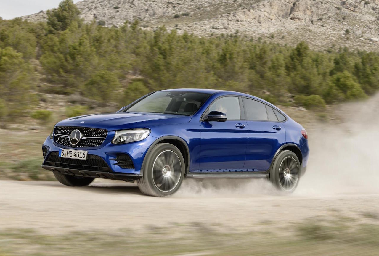 mercedes benz reveals its bmw x4 rival the glc coupe
