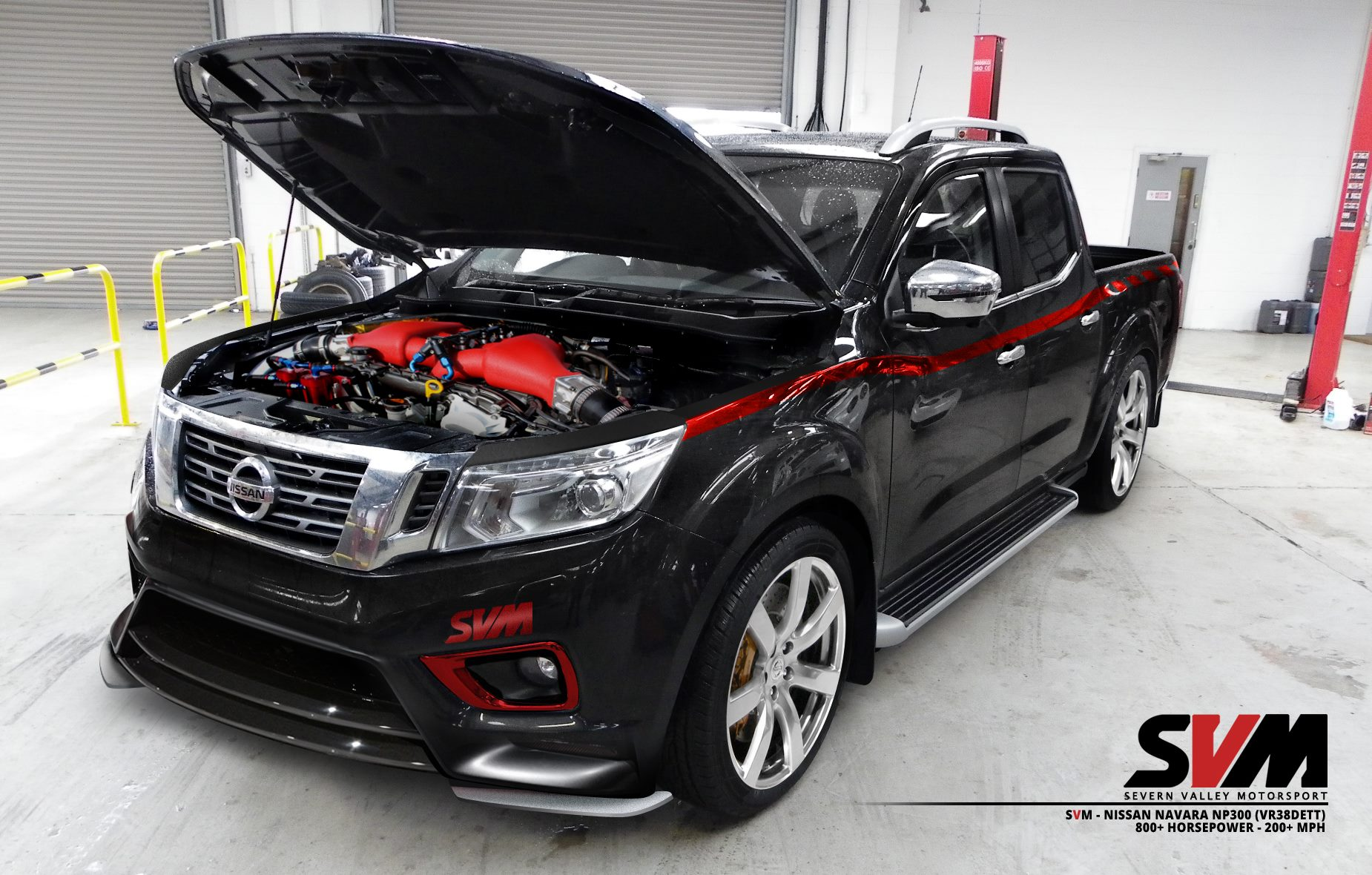 nissan navara np300 gets 800hp gt r engine conversion performancedrive. Black Bedroom Furniture Sets. Home Design Ideas