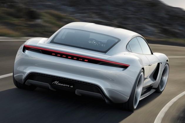 Porsche Mission E concept-rear