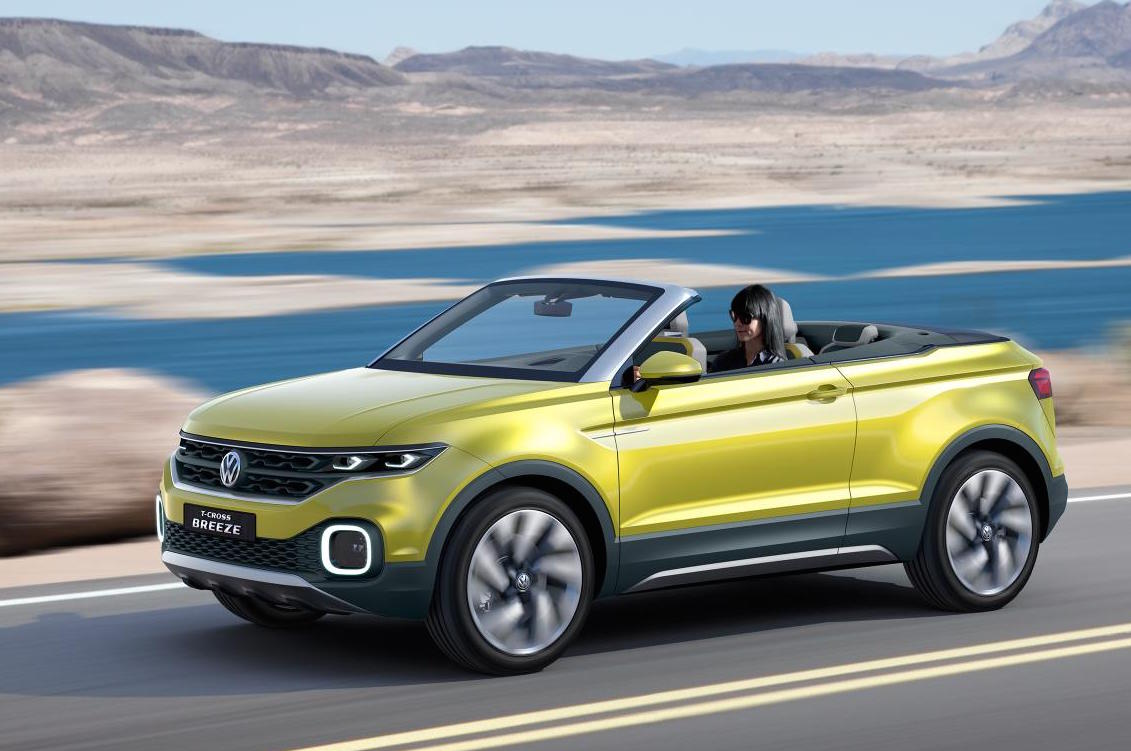 volkswagen t cross breeze hints at possible open top suv. Black Bedroom Furniture Sets. Home Design Ideas