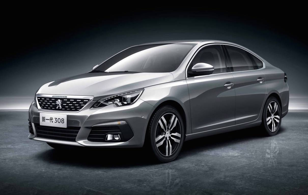new china only peugeot 308 sedan 3008 revealed performancedrive. Black Bedroom Furniture Sets. Home Design Ideas